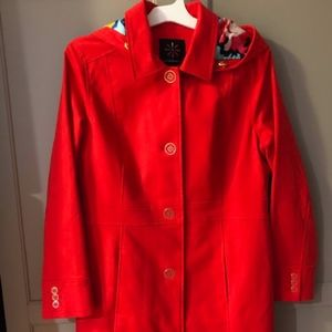 Isaac Mizrahi Live! Floral Lined Trench Coat